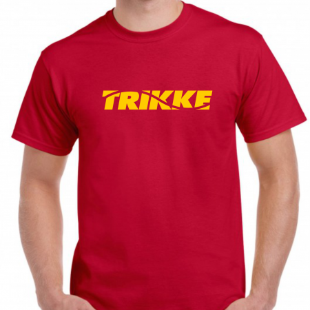 Trikke t-shirt red-yellow